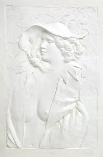 Actress Cast Paper Sculpture 1980 47x59 Limited Edition Print - Frank Gallo
