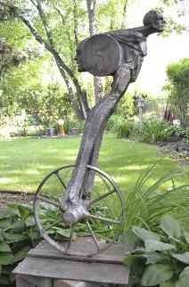 Number 5 Welded Corten Steel Sculpture 1976 46 in Sculpture - Theodore Gall