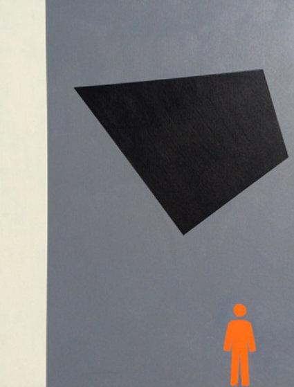 Minimalist 2010 30x24 Original Painting by Stephen Gamson