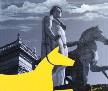 Yellow Horse Italian Series 2014 16x19 Original Painting by Stephen Gamson