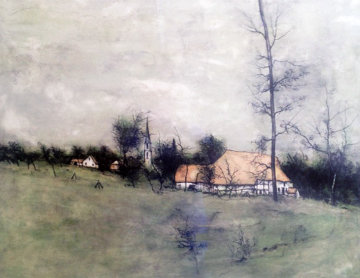 Untitled Landscape With Cottage. Limited Edition Print - Bernard Gantner