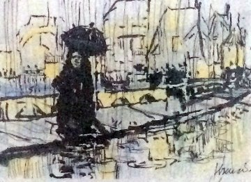 Paris in the Rain 1991 Limited Edition Print by Jerry Garcia