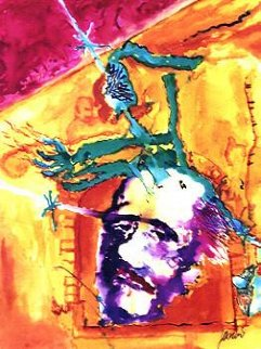Poet Reflects the War 1991 Limited Edition Print - Jerry Garcia