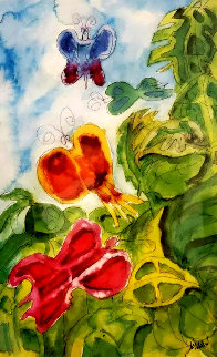 Butterfly Study 1990 HS Limited Edition Print - Jerry Garcia