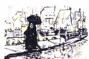 Paris in the Rain 1993 Limited Edition Print by Jerry Garcia