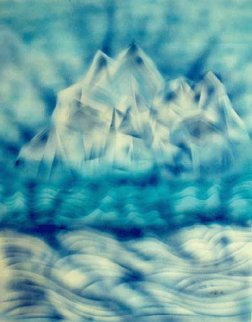 Blue Iceberg 1985 Hs Limited Edition Print by Jerry Garcia