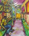 Bus Terrorist 1992 Watercolor - Jerry Garcia