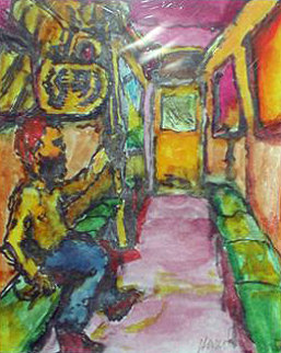 Bus Terrorist 1992 Watercolor - Jerry Garcia