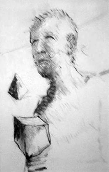Man with Pyramid Drawing 8x6 Drawing by Jerry Garcia