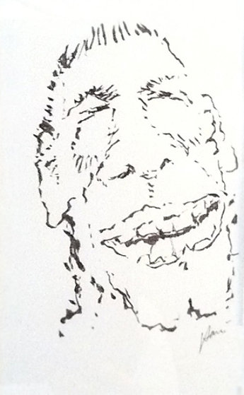Arggh Drawing 1992 18x14 Original Painting by Jerry Garcia