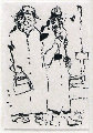 Street Guys Drawing 1992 Drawing - Jerry Garcia
