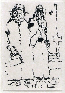 Street Guys Drawing 1992 Drawing - Jerry Garcia