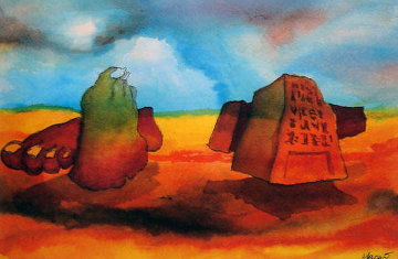 Footprints in the Sands of Time 1992 HS Limited Edition Print - Jerry Garcia