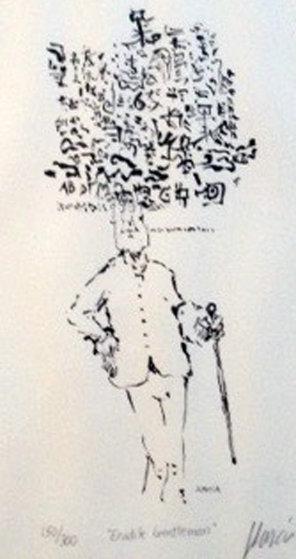 Erudite Gentleman 1991 HS Limited Edition Print by Jerry Garcia