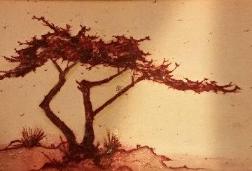 Untitled Cypress 5x7 Original Painting - Danny Garcia