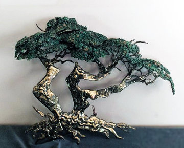 Medium Cypress Tree Bronze Sculpture 1991 25 in Sculpture - Danny Garcia