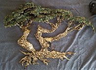 Large Cypress Tree Bronze Sculpture 1991 34 in Sculpture by Danny Garcia - 1