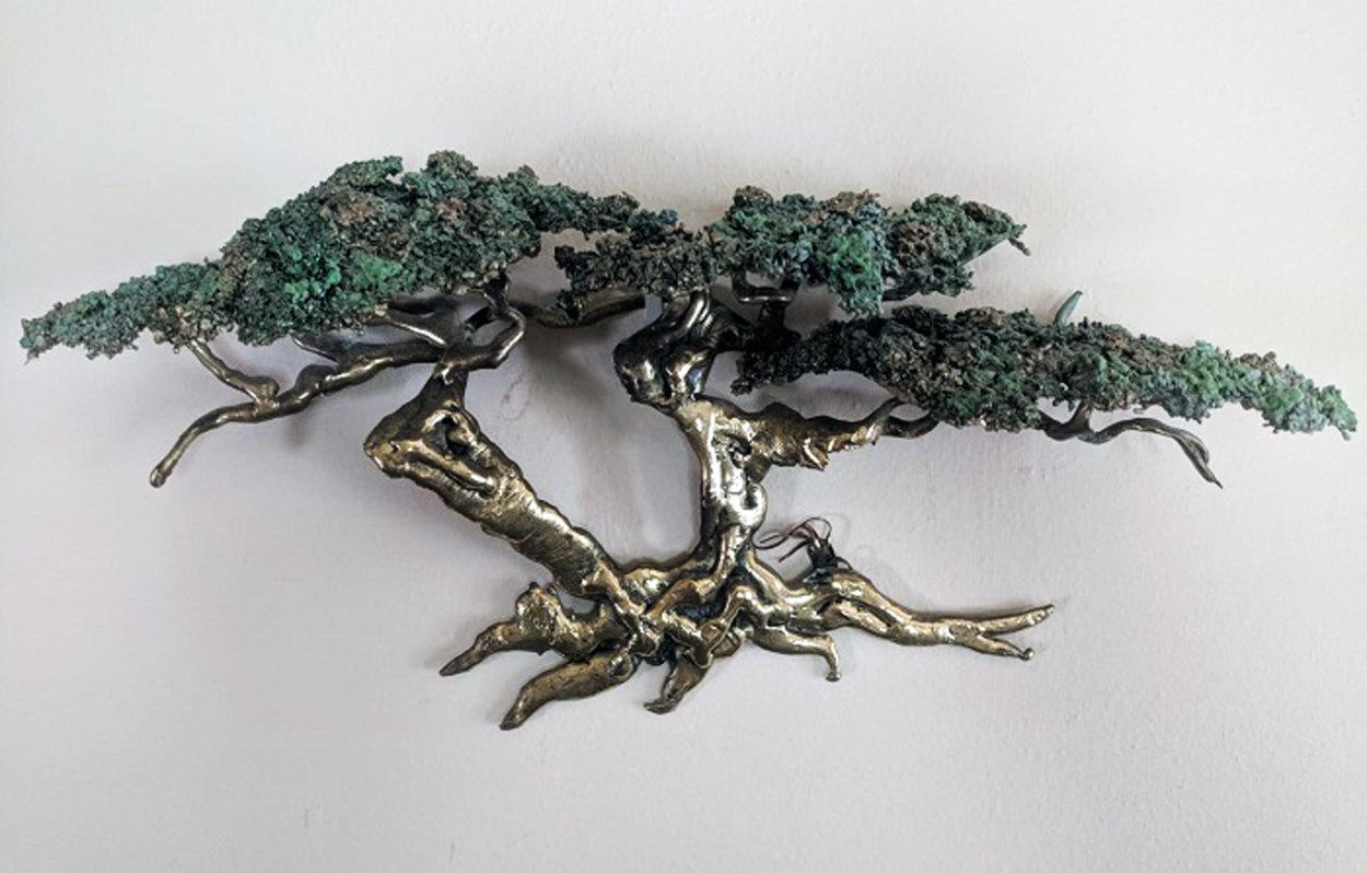 Large Cypress Tree Bronze Sculpture 1991 34 in Sculpture by Danny Garcia