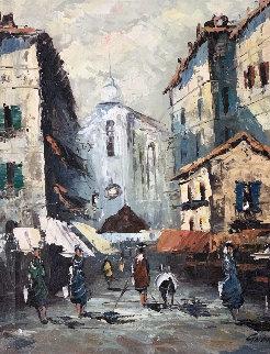 Campo de Miracali 1960 25x21 Original Painting - Danny Garcia