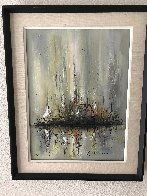 Untitled Sailboat Painting 1974 30x24 Original Painting by Danny Garcia - 2
