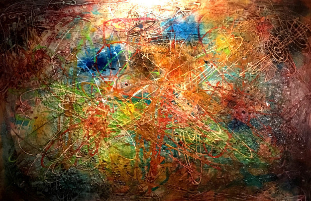 Untitled Early Abstract 1964 29x41  Original Painting by Danny Garcia