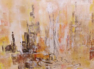 Untitled Painting 1964 30x42 Super Huge Original Painting - Danny Garcia