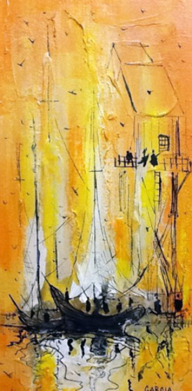 Untitled Painting 1968 24x36 Original Painting by Danny Garcia