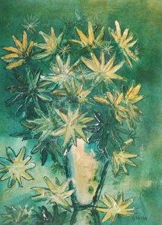 Spring Floral 1973 31x25 Original Painting - Danny Garcia