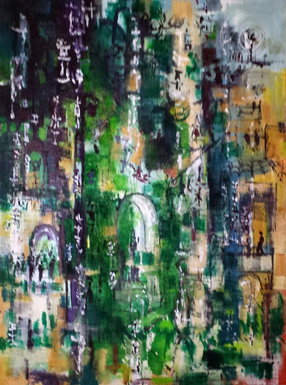 Untitled 1967 48x36 (Early) Original Painting by Danny Garcia
