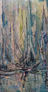 Untitled Abstract 1968 20x32 Original Painting by Danny Garcia
