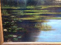 Untitled Landscape  (Pond) 25x35 Original Painting by Reid Gardner - 4
