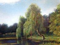 Untitled Landscape  (Pond) 25x35 Original Painting by Reid Gardner - 3