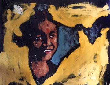 Girl in India 2007 60x72 Super Huge Original Painting - David Garibaldi