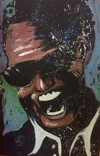 Ray Charles 2005 47x72 Huge Original Painting - David Garibaldi