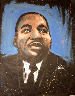 Martin Luther King Jr. 2007 48x36 Works on Paper (not prints) - David Garibaldi