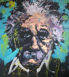 Einstein 2013 64x58 Original Painting - David Garibaldi