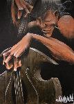 Bass Smoke 2005 48x36 Original Painting - David Garibaldi