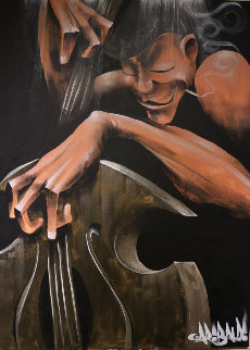 Bass Smoke 2005 48x36 Original Painting by David Garibaldi