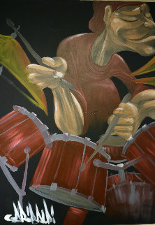 Drummer 2005 40x30 Original Painting by David Garibaldi