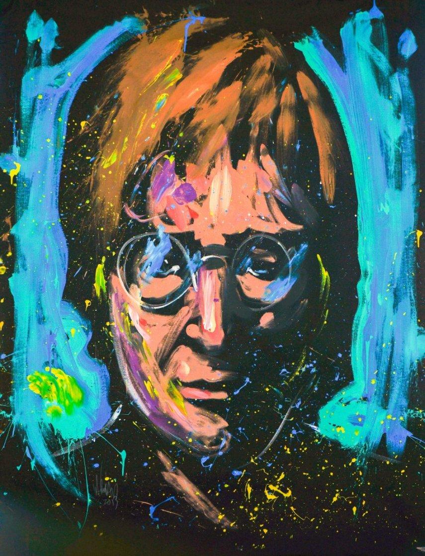John Lennon 2013 60x36 Super Huge Original Painting by David Garibaldi