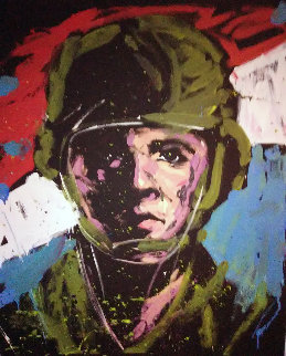 Soldier #3 2014 68x57 Original Painting - David Garibaldi