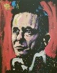 Johnny Cash 2009 72x60 Original Painting - David Garibaldi