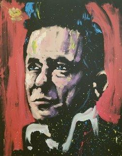 Johnny Cash 2009 72x60 Original Painting by David Garibaldi