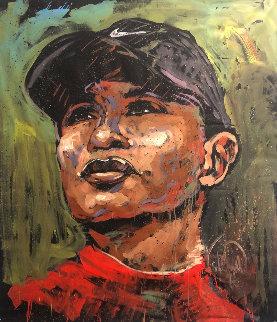 Tiger Woods 2019 60x48 Huge Original Painting - David Garibaldi
