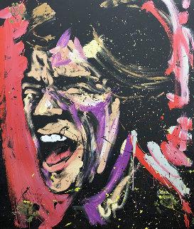 Mick Jagger 63x53 Huge Original Painting - David Garibaldi