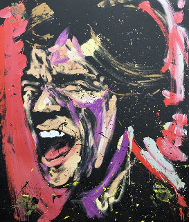 Mick Jagger 63x53 Super Huge Original Painting - David Garibaldi