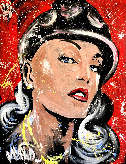 Gwen Stefani 2007 70x62 Original Painting by David Garibaldi
