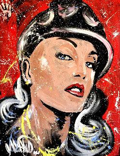 Gwen Stefani 2007 70x62 Original Painting - David Garibaldi
