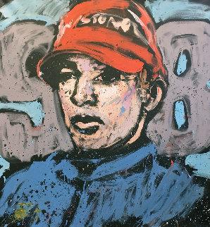 Alexander Rossi 66x58 Huge Original Painting - David Garibaldi