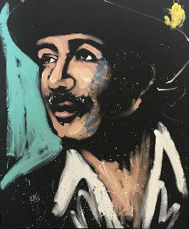 Carlos Santana 2010 72x60 Original Painting - David Garibaldi
